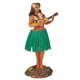Show details of HULA GIRL DASHBOARD SHAKER BOBBLE WITH UKULELE.