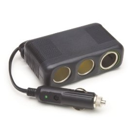 "Show details of 12V, 3 Outlet Platinum Fused Series Cigarette Lighter Adapter with 30"""" Cord""."
