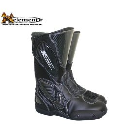 Show details of Xelement Men's Black Leather Sport Motorcycle Boot - Size : 10 1/2.