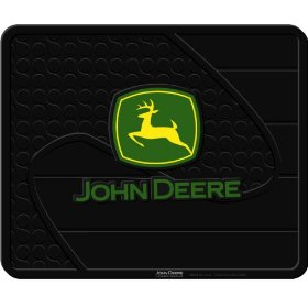 "Show details of John Deere Factory Style Molded 14"" x 17"" Utility Mat."
