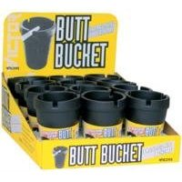 Show details of BUTT BUCKET -- CIGARETTE BUTT CONTAINER.