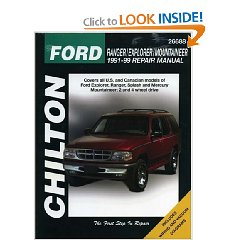 Show details of Ford Ranger, Explorer, and Mountainer, 1991-99 (Chilton's Total Car Care Repair Manual) (Paperback).